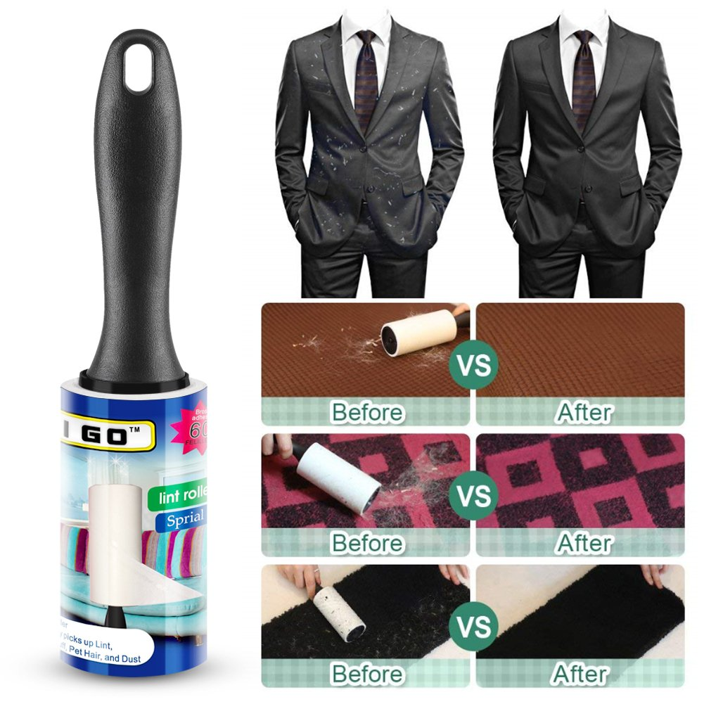I Go Professional Powerful Pet Hair Lint Roller, Easily to Tear, 360 Count Lint Roller, 6 Pack by I Go (Image #4)