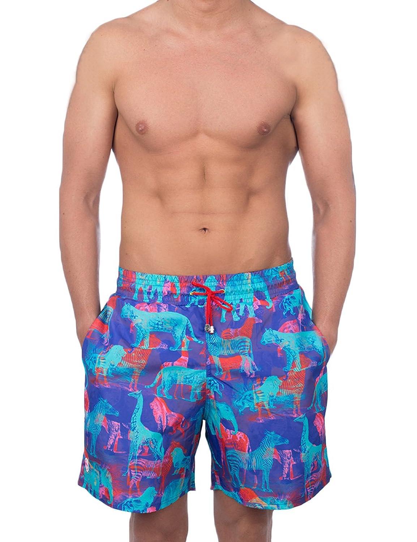 Pcp Men's 螠伪rocco Boardshorts Men's Pink Swimshorts 100% Polyester