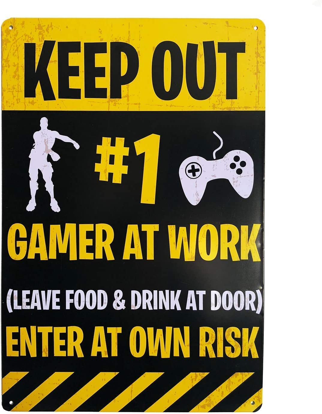 "Gaming ""KEEP OUT"" door sign - Funny Novelty Gift for obsessive Gamers! Perfect for Teens Son's Husbands Men Boyfriends"