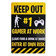 Gaming Keep Out Door Sign - Funny Novelty Gift for Obsessive Gamers! Perfect for Teens