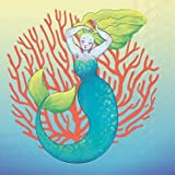 Celebrate the Home Tropical 3-Ply Paper Cocktail Napkins, Mermaid, 20 Count