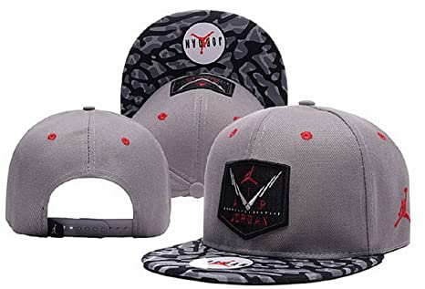 Cappello Air Jordan regolabile Hip Hop Sport Fans Hyst Unisex eresen  cappellino da Baseball (grigio 672cb5953467
