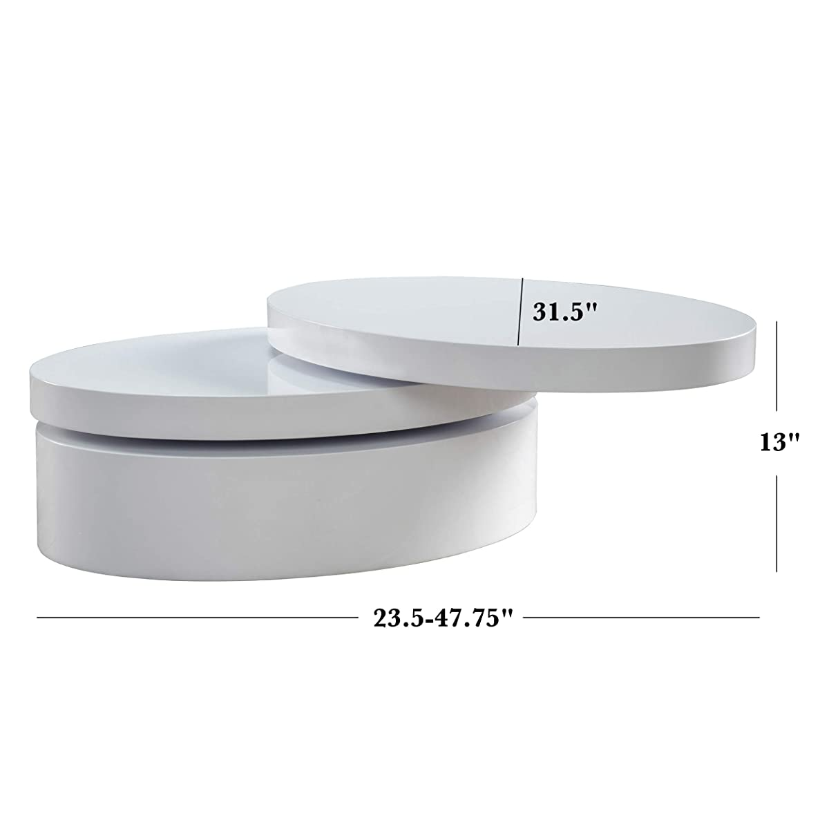 Kendall Oval Mod Swivel Coffee Table