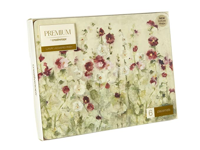 Amazon.com: Creative Tops Wild Field Poppies Premium 6-piece Set Of Cork-backed Placemats: Home & Kitchen