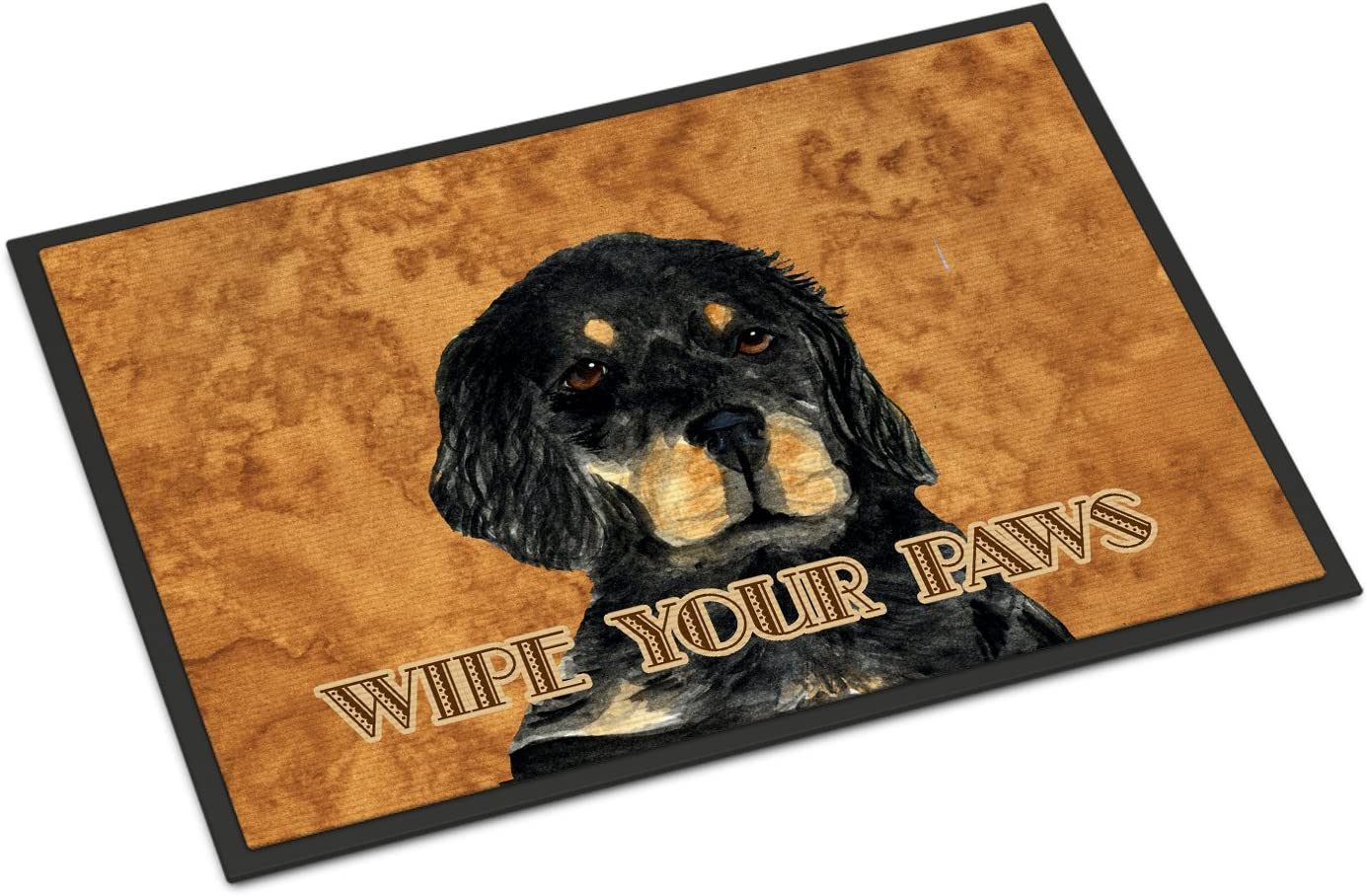 Caroline s Treasures SS4885JMAT Gordon Setter Wipe Your Paws Indoor or Outdoor Mat 24×36, 24H X 36W, Multicolor