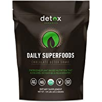 Detox Organics Chocolate Green Superfood Powder - Made with Organic Ingredients...