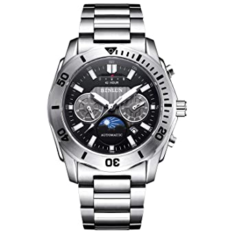 Automatic Watches for Men Waterproof Luminous Luxury Dress Sports Military Casual Stainless Steel Mechanical Mens Wrist