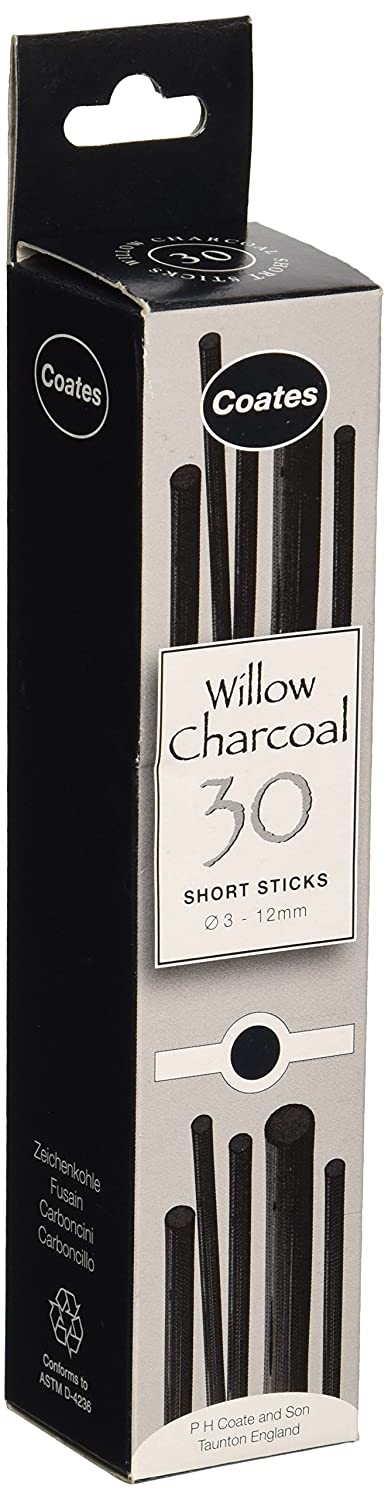 Coates Williow Charcoal Assorted Short Lengths Bx 30 Approx (Box) P H Coate & Son 1004