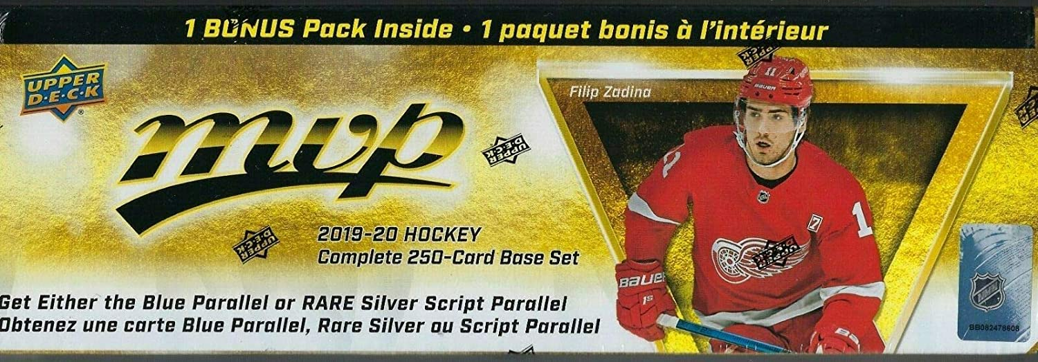 2019 2020 Upper Deck MVP Hockey Series Factory Sealed 250 Card Set with 50 Shortprinted Stars and Rookies Plus a Bonus Pack containing Eastern Stars, Western Stars and Rookie Star Formations 71AO9C4RpCL