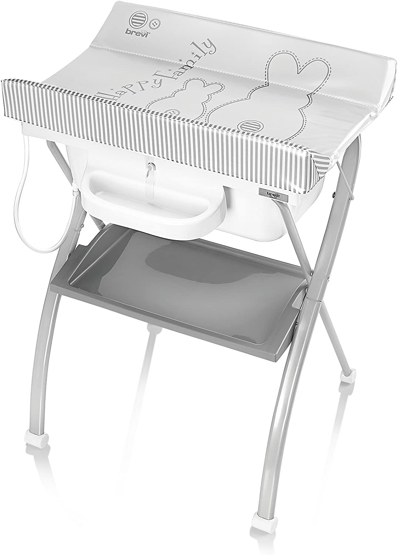 Lindo 567501 Brevi - Cambiador de pañales y baño, fabricado en Italia, color perla (Pearl Rabbit)