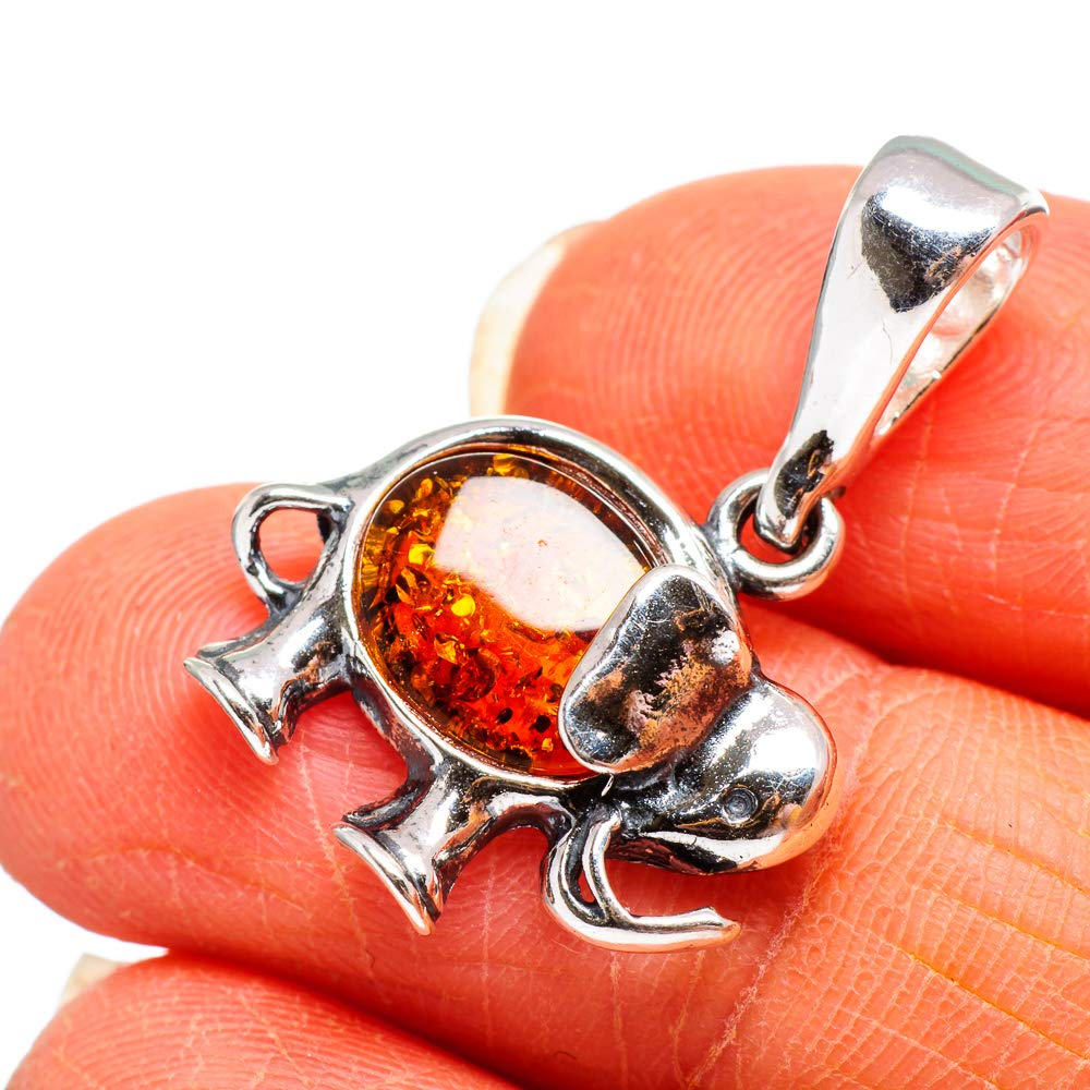 Ambre de la Baltique Argent Sterling 925 Pendentif 1 Baltic Amber