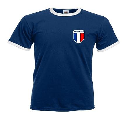 Camiseta Rugby Union Francia Escudo F?tbol Franc?s Cuello Redondo Todas Tallas