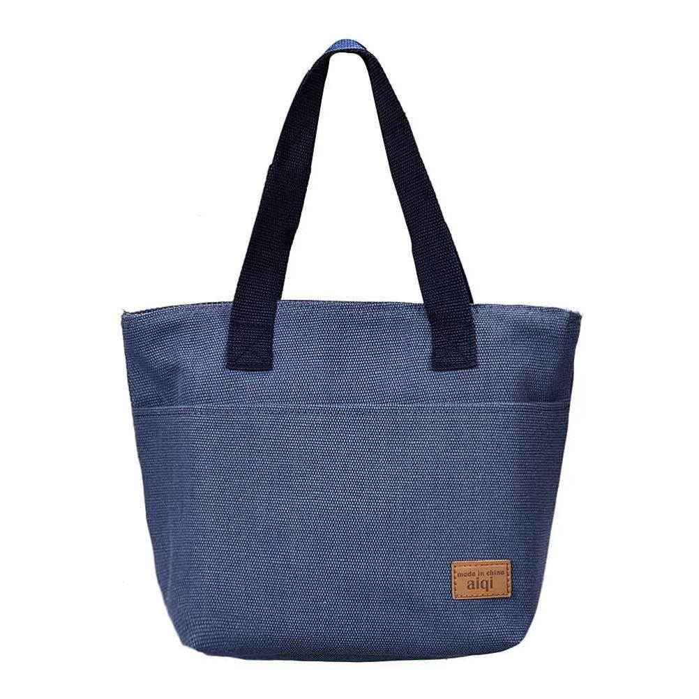 Lunch bags !! Lunch Bags Utility Beach Tote Storage Picnic Bags for Women Ladies Student Duseedik Clearance (Blue)