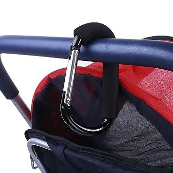 2Pcs Stücke Buggy Clips Kinderwagen Kinderwagen Einkaufstasche Karabinerhaken DE