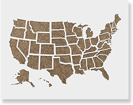 United States Map Outline Stencil Template - Reusable Stencil with on alabama template, virginia template, california template, united states of america template, global map template, mapping document template, continent map template, florida template, africa map template, bubble map graphic organizer template, world map template, map scale template, new york template, wisconsin template, oregon template, maryland template, europe map template, north america template, arizona template, play format template,