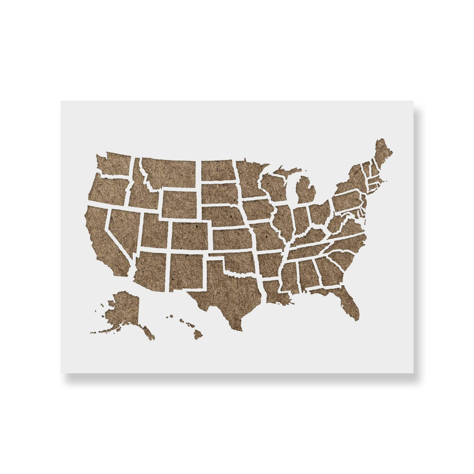 United States Map Outline Stencil Template - Reusable Stencil with Multiple Sizes Available by Stencil Revolution