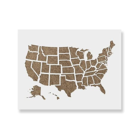 United State Map Outline.Amazon Com United States Map Outline Stencil Template Reusable