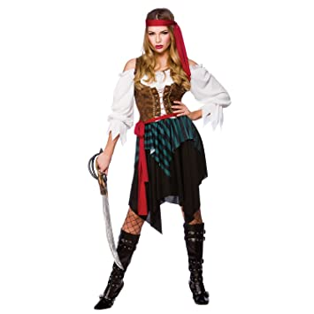 Caribbean Pirate Adult budget Fancy Dress Ladies Costume  sc 1 st  Amazon.com : pirate costume from home  - Germanpascual.Com
