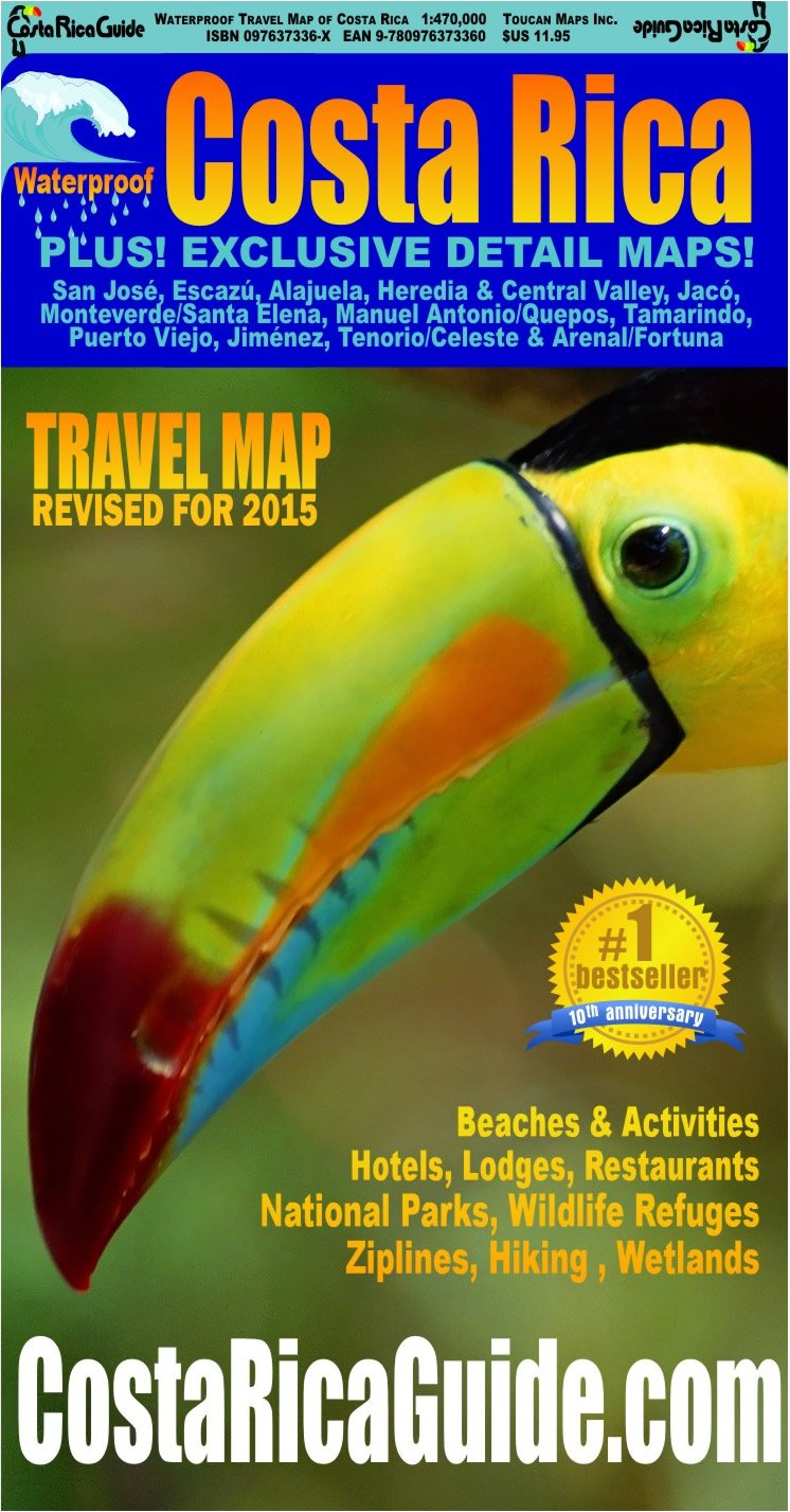 Read Online Waterproof Travel Map Of Costa Rica ebook