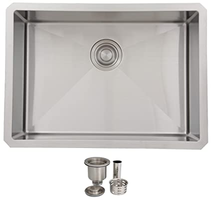 25 Inch Undermount Single Bowl Kitchen Sink 18 Gauge Stainless