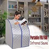 Iglobalbuy portatile Mica riscaldamento FIR / lontano infrarosso sauna che dimagrisce camera promuovere Perdi Peso 25-75 ℃