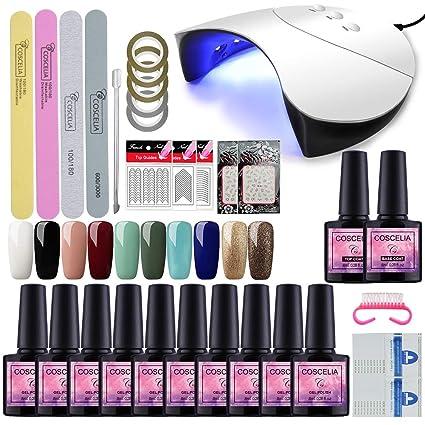 Saint-Acior Kit de Herramientas para Manicura de Uñas 36W UV/LED Lámpara+