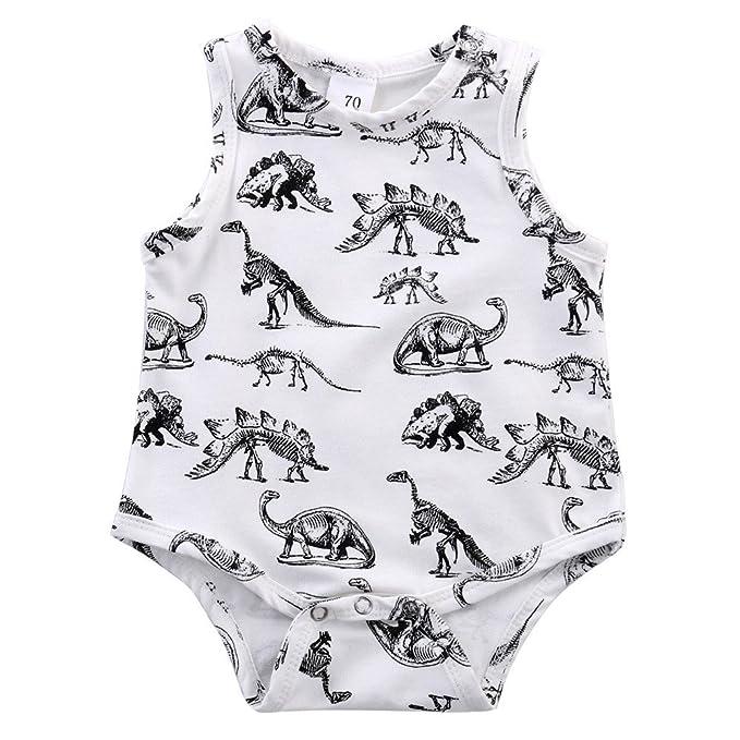 feiXIANG Ropa de bebé recién Nacido Niño Bebé Niño Niña Dinosaurio ...