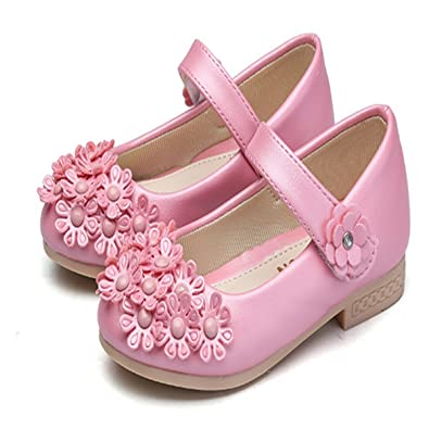 d39df1b3843a0  Infabe  女の子 ピーズの靴 花 ドレスシューズ フラワーガールズ フォーマル靴 子供フォーマル