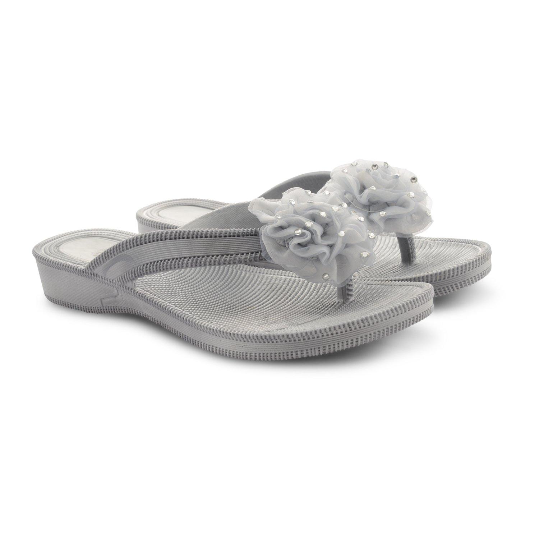 0f844e7ad Womens Toe Post Summer Beach Flip Flops Wedge Open Toe Ladies Sandals   Amazon.co.uk  Shoes   Bags