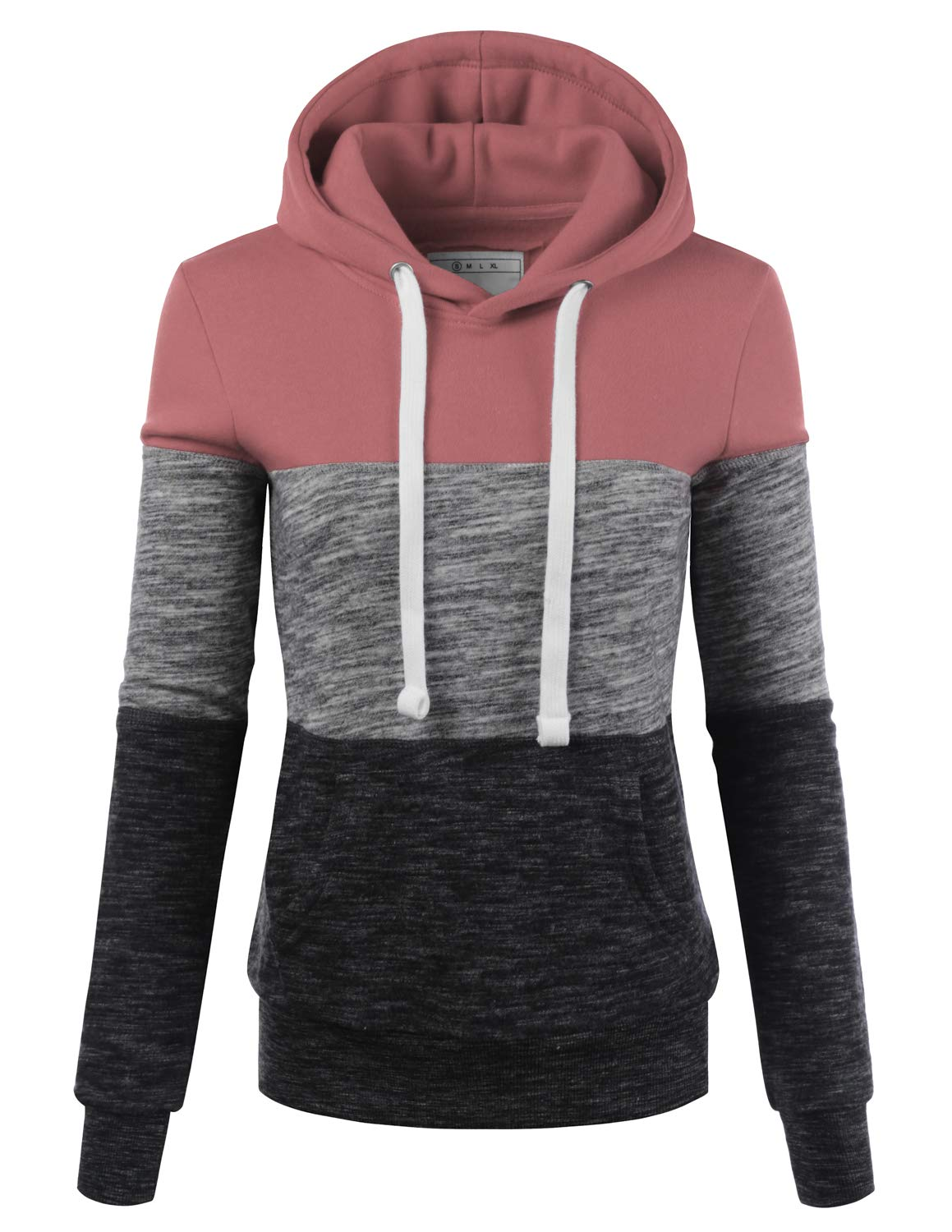 75e13a147cd9a Doublju Basic Lightweight Pullover Hoodie Sweatshirt for Women product image