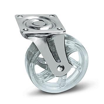 SO-TECH® Rueda giratoria para Mueble Color Transparente Ø 75 mm: Amazon.es: Bricolaje y herramientas