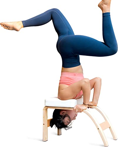 THUNDESK Yoga Inversion Bench Headstand Prop Upside Down Chair