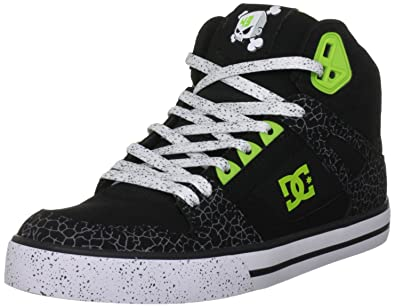 DC Mens Shoes Block Spartan Hi Wc Lace Up D0302430 12 UK Black/Soft Lime