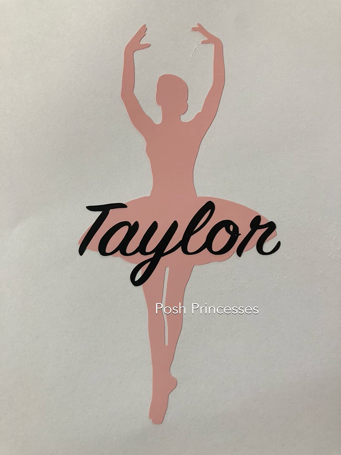 Personalized Ballerina Decal Car Window Decal Laptop Sticker, Ballet Decal, ANY COLOR 4 x 2 ANY COLOR 4 x 2