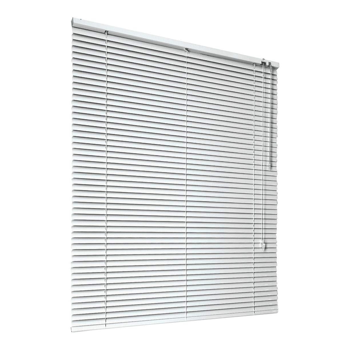 HSYLYM veneziane alluminio tenda oscurante glare protezione finestra decorazione ufficio arredo casa, Bianca, 60x130cm