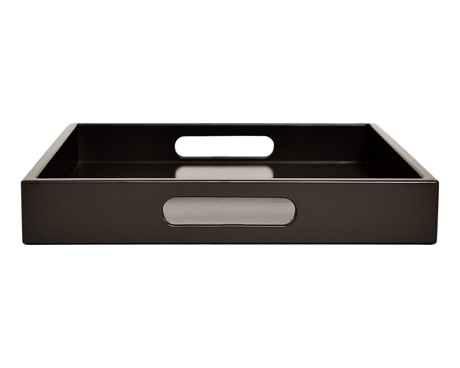 Large Dark Brown Tray with Handles - Many Sizes