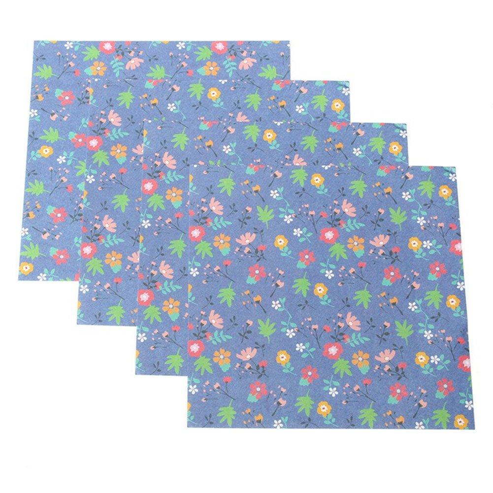 24X Phononey Origami Papier Faltpapier Blumenmuster Doppelseitige Bastelpapier Faltbl/ätter f/ür DIY Kunst Handwerk Projekte 15x15cm Zuf/ällige Farbe