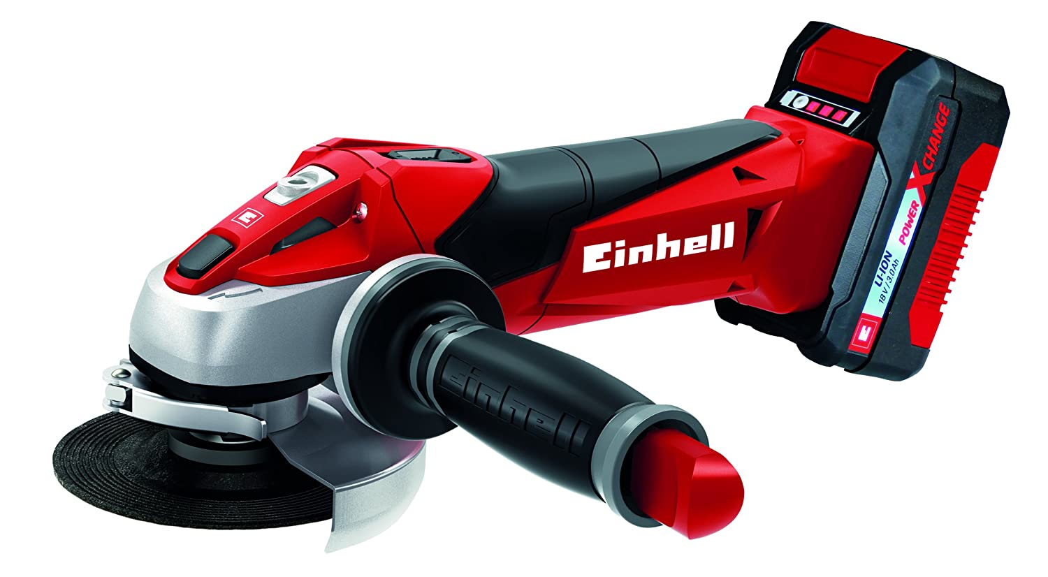 Einhell 4431119  Grinder (18  V, 115  mm, 8500  min-1, Includes Battery and Fast Charger), Red 115 mm 8500 min-1