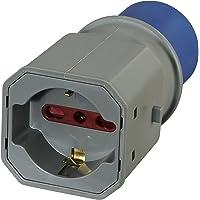 Electraline 80863Adaptador Enchufe a 3Polos Industrial IEC Enchufe