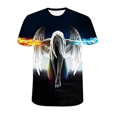 62d5e936e3380d semen Mens 3D-Druck-Hipster Hemd mit Kurzen Ärmeln Lässige Graphics Tees   Amazon.de  Bekleidung