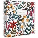Jot & Mark Photo Album Set - 200 4x6 Photos, Clear Pocket Sleeves, 6 Tab Dividers, 3-Ring Binder 8.5x9.5 (Wildflower Bouquet)