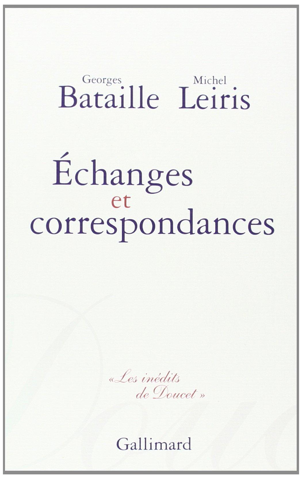 cover art for Échanges et correspondances