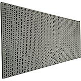 XL Lochblech aus Metall mit Schlüssellochung 25 mm. Pulverbeschichtet in Hellgrau, Stärke ca. 1 mm. Maße 98 x 46 x 1 cm.
