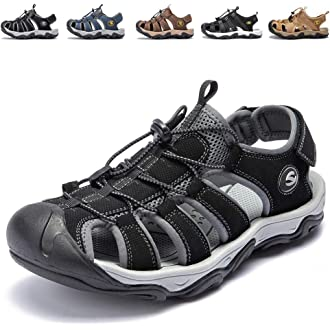 #3 KIIU Mens Closed Toe Sandals Sport Hiking Sandal Athletic Walking Sandals Fishermen Outdoor