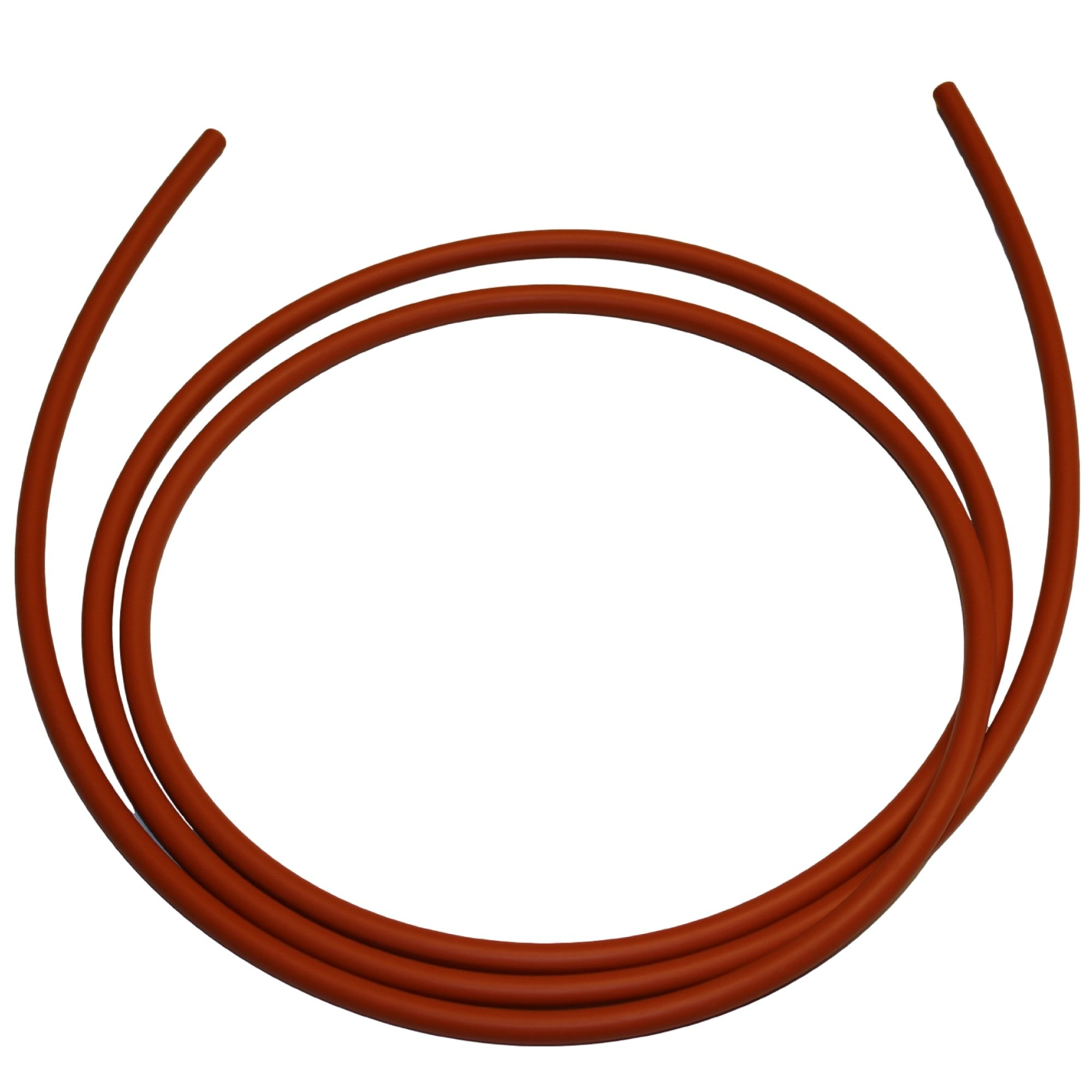 .275'' (1/4'' Nominal, 7 mm) Silicone O-Ring Cord Stock, 70A Durometer, 0.275'' Thickness, 10' Piece, Red by Small Parts