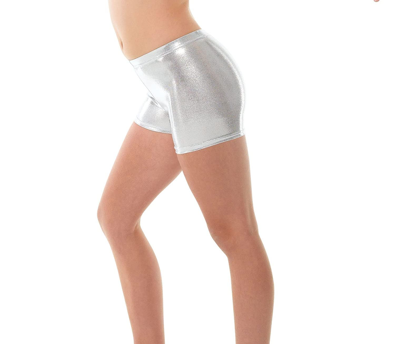 Tappers /& Pointers Girls Argent Hipster Micro Short//Shorty pour Danse ou Gymnastique