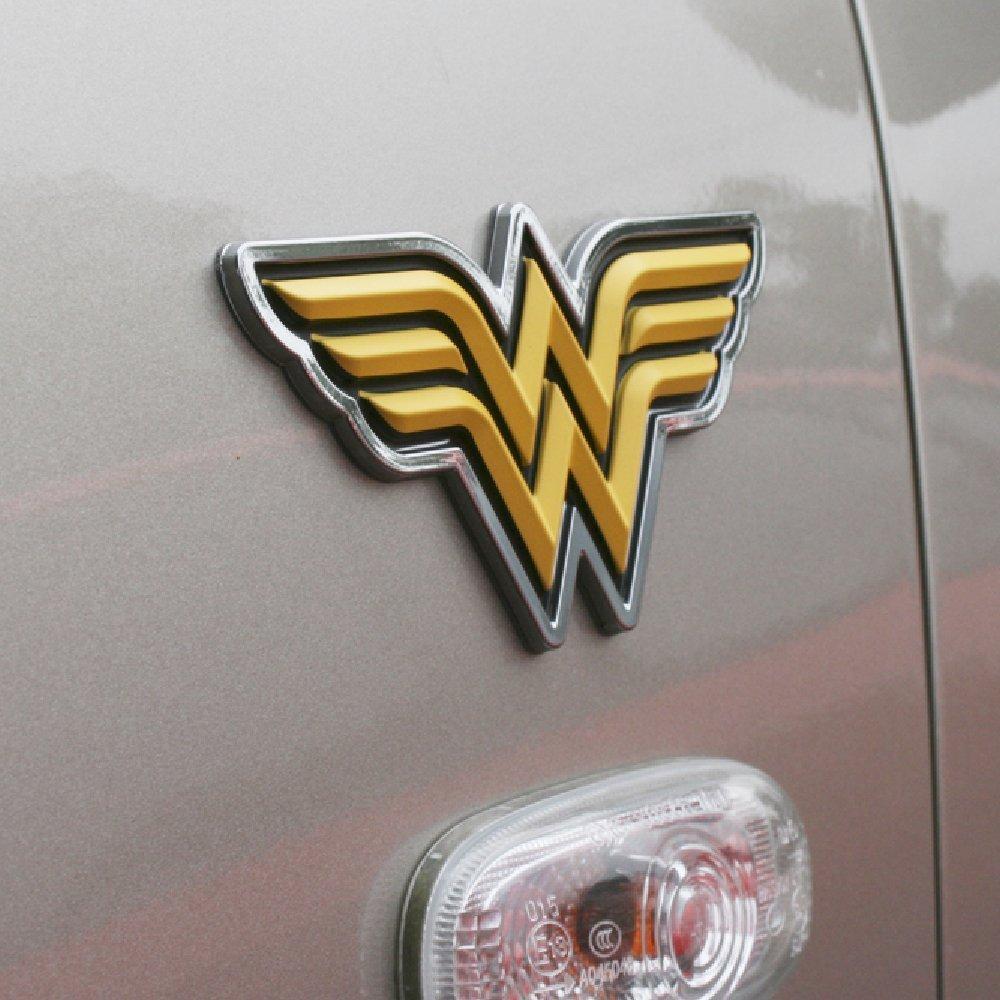 Motorcycles Laptops Almost Anything LNI AUSTRALIA 9672-009 Fan Emblems Wonder Woman Logo 3D Car Emblem Black//Yellow//Chrome DC Comics Automotive Sticker Decal Badge Flexes to Fully Adhere to Cars Windows Trucks