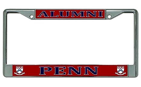 Amazon.com : University of Pennsylvania Alumni Chrome License Plate ...