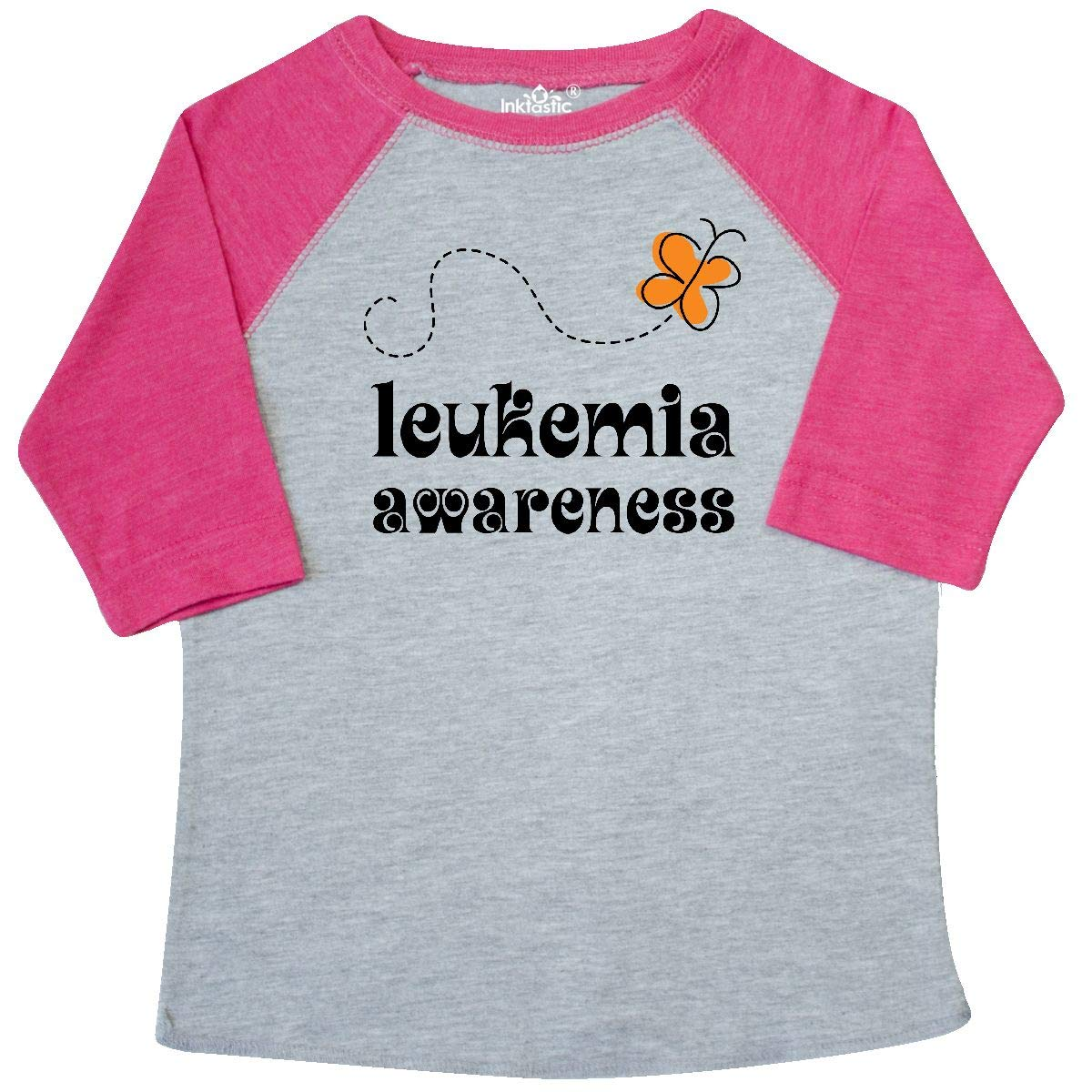 inktastic Leukemia Butterfly Toddler T-Shirt