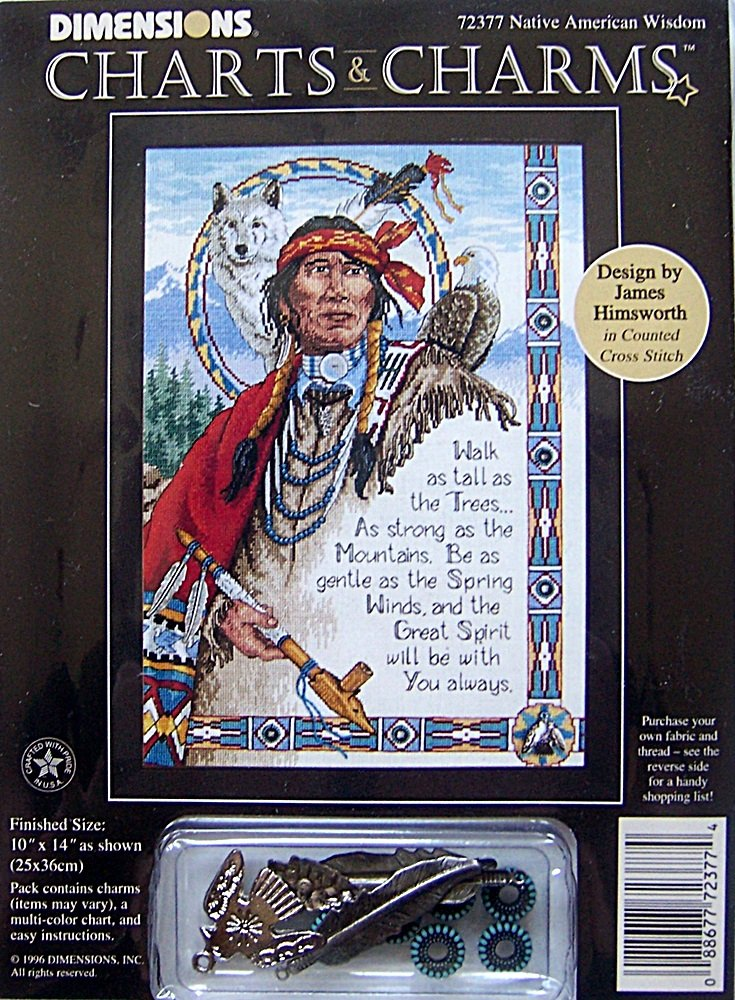 Dimensions Charts And Charms Counted Cross Stitch Kit 72377 Native